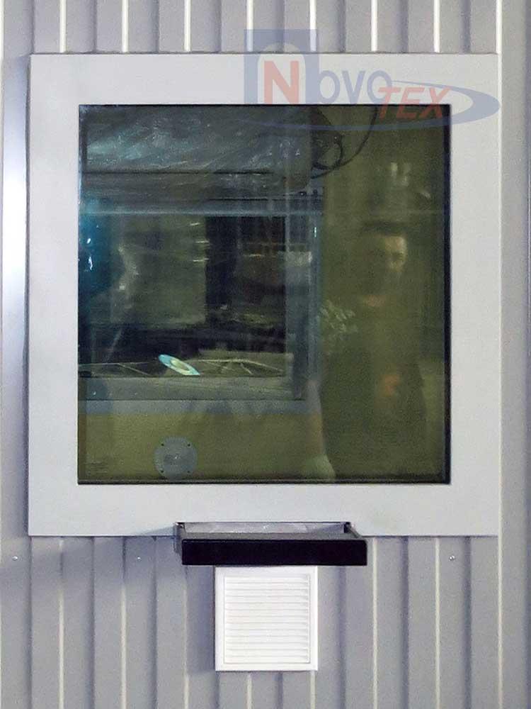 противопожарное окно с передаточным лотком