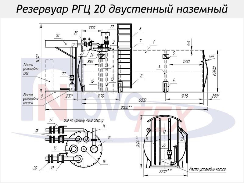 Азс схема резервуаров 63